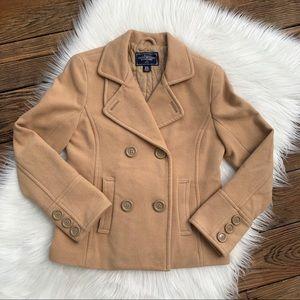 American Eagle Outfitters Tan Short Pea Coat M